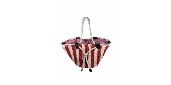 Dámská červeno-bílá taška z mořské trávy Tantra
