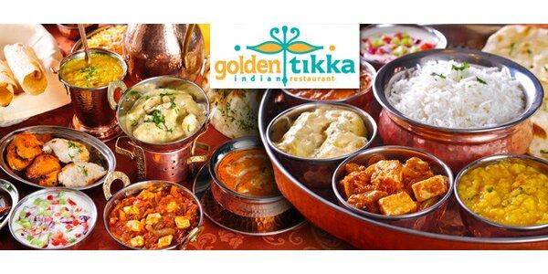 Indické speciality z Golden Tikka v hodnotě 600 Kč