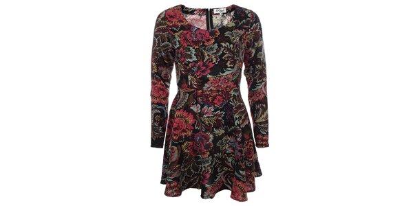 Dámské květované šaty s dlouhým rukávem Madam Rage