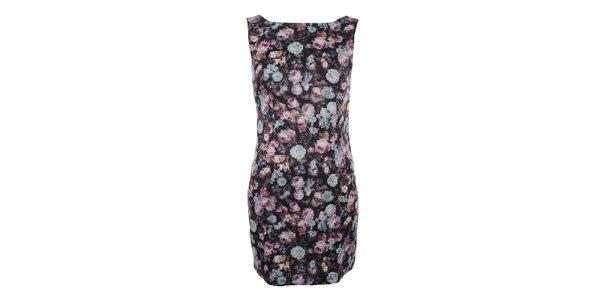 Dámské šaty bez rukávů s květinovým potiskem Madam Rage