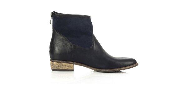 Dámské modro-černé boty Joana and Paola