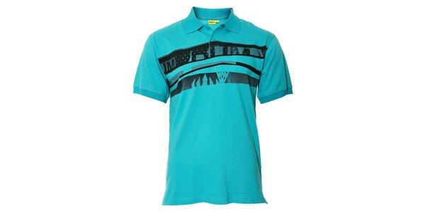 Zelené pánské polo tričko Humdrum s potiskem