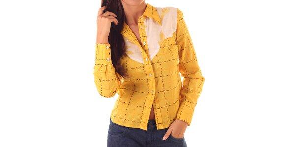 Dámská žluto-růžová košile Custo Barcelona