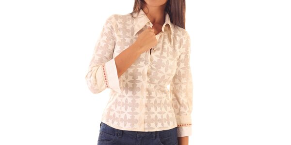 Dámská růžová košile se vzorem Custo Barcelona