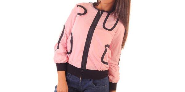 Dámská růžovo-černá bunda s flitry Custo Barcelona