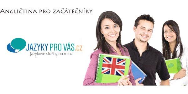 12 lekcí angličtiny pro začátečníky v centru Brna