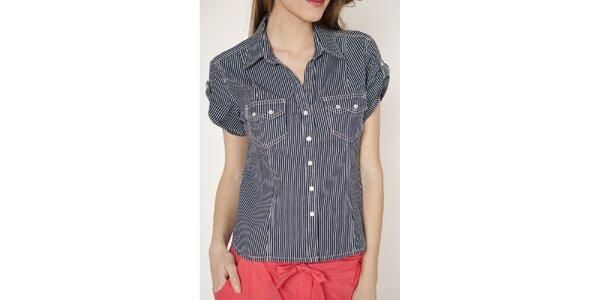 Dámská pruhovaná košile s krátkými rukávy Tantra