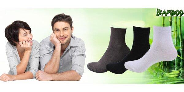5 nebo 10 páru zdravotních bambusových ponožek