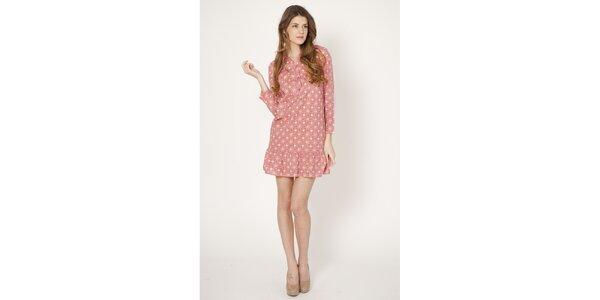 Dámské růžové retro šaty Tantra