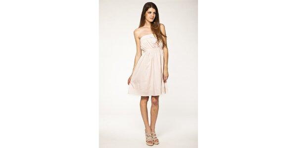 Dámské světle růžové šaty Tantra s krajkou