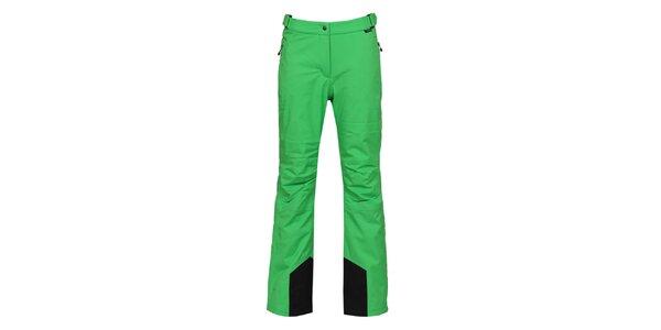 Dámské zelené lyžařské kalhoty s membránou Bergson