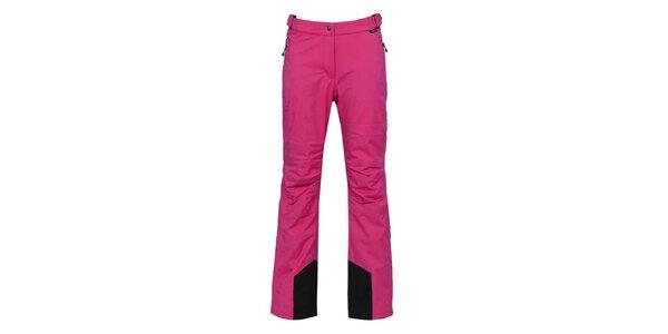 Dámské tmavě růžové lyžařské kalhoty s membránou Bergson