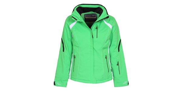 Dámská světle zelená lyžařská bunda Bergson