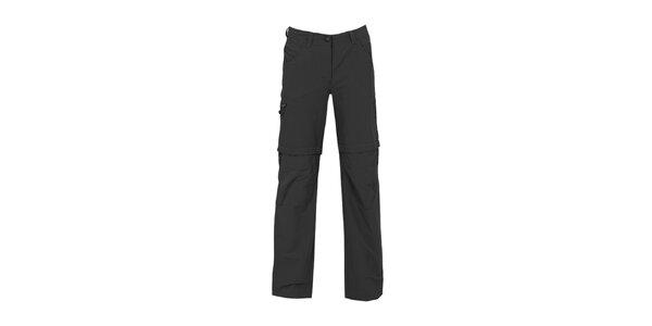 Dámské černé kalhoty se zipy na nohavicích Bergson