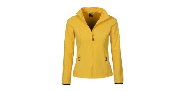Dámská žlutá softshellová bunda Bergson