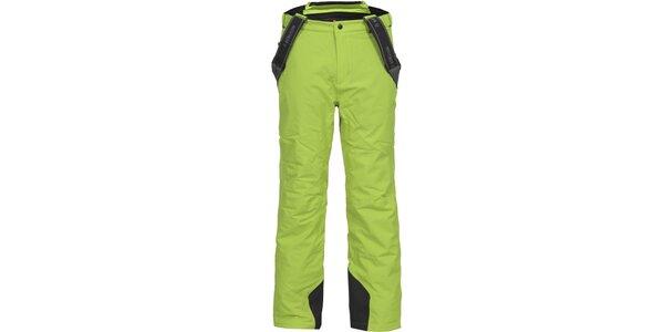 Pánské zelené lyžařské kalhoty se šlemi Bergson