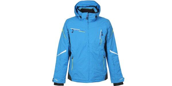 Pánská modrá lyžařská bunda s kapucí Bergson