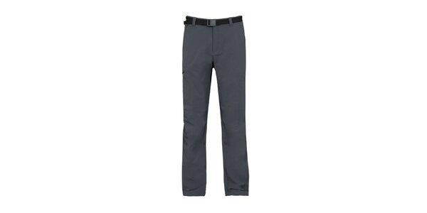 Pánské antracitové strečové kalhoty Bergson