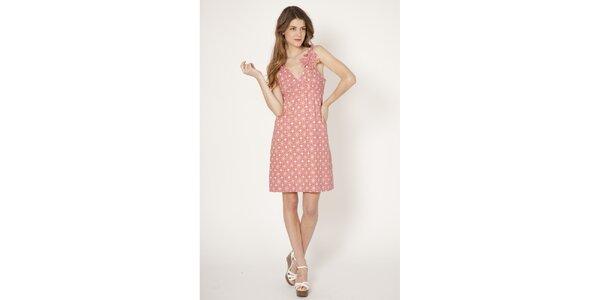 Dámské růžové šaty s potiskem Tantra