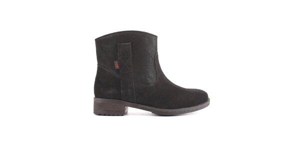 Dámské černé kotníkové boty Les Tropezienne