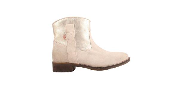 Dámské světle béžové kotníčkové boty Les Tropezienne
