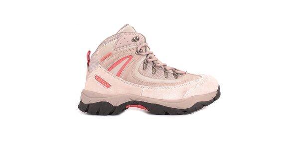 Dámské růžové kotníkové boty Hi-Tec