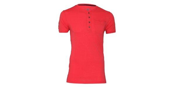Pánské korálové tričko s knoflíčky Paul Stragas
