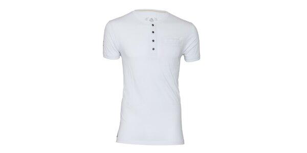 Pánské bílé tričko s knoflíčky Paul Stragas