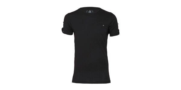 Pánské černé tričko Paul Stragas