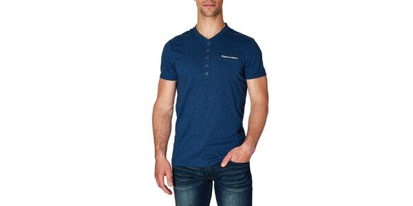 Pánské tmavě modré tričko s krátkým rukávem Paul Stragas