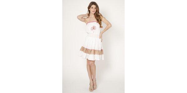 Dámské bílé bavlněné šaty Tantra s výšivkou