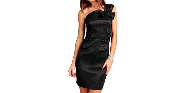 Dámské černé šaty s mašlí Vera Fashion