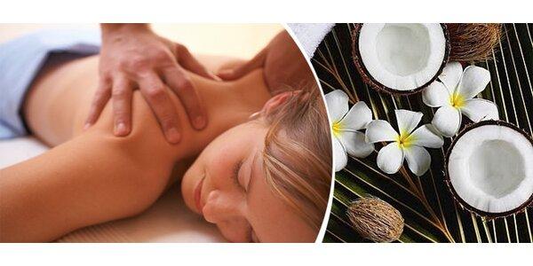 Kokosová kombinovaná masáž zad v délce 50 minut