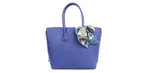 Dámská modrá kabelka se šátkem Gessy