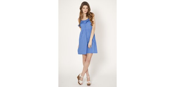 Dámské světle modré šaty Tantra s volánem