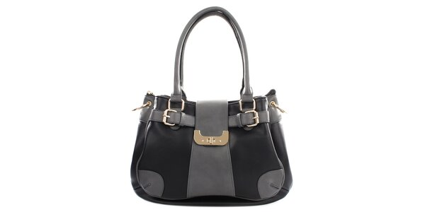 Dámská šedo-černá kabelka Gessy