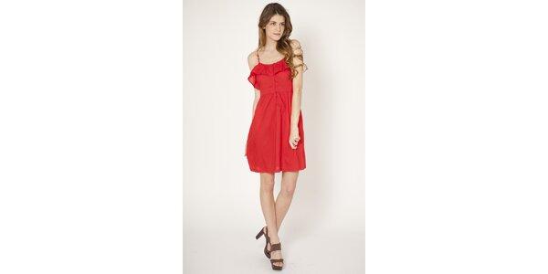 Dámské červené šaty Tantra s volánem