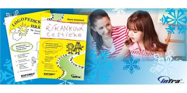 Balíček dvou logopedických publikací LOGOPEDICKÉ HRÁTKY a ŘÍKANKOVÁ CESTIČKA