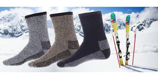 3 páry pánských lyžařských ponožek včetně poštovného