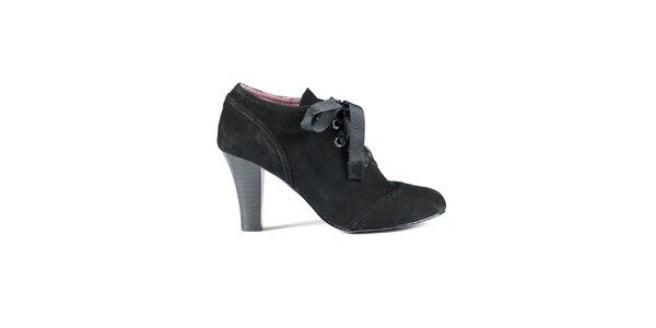 Dámské černé semišové boty Lise Lindvig