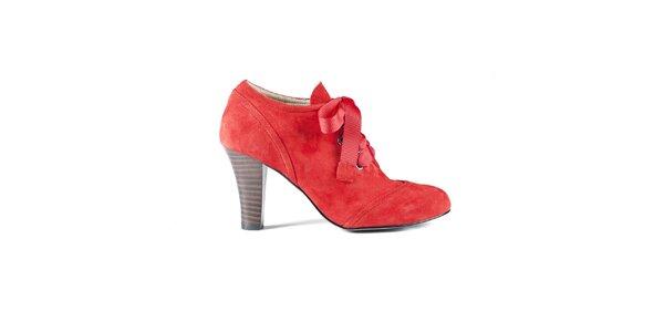 Dámské červené semišové boty Lise Lindvig