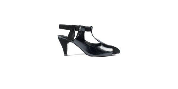 Dámské černé kožené sandály Lise Lindvig
