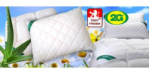 Lehké přikrývky a polštáře s Aloe Vera, 1+1 zdarma