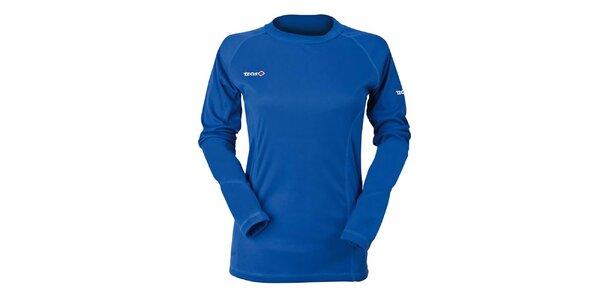 Dámské modré funkční tričko s dlouhým rukávem Izas