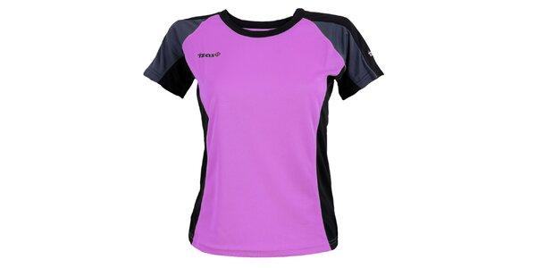 Dámské fialové funkční triko s tmavě šedými prvky Izas