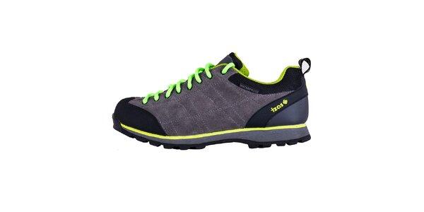 Pánské šedé boty s kontrastními prvky Izas