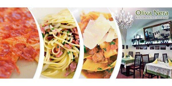 Večeře dle výběru v italské restauraci Oliva Nera