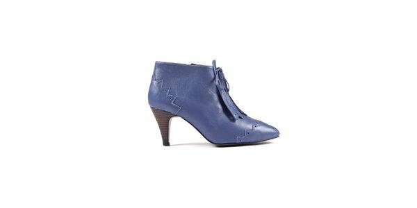 Dámské pastelově modré kotníkové boty Lise Lindvig