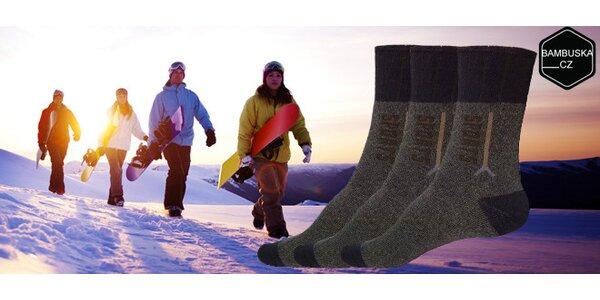3 páry zdravotních thermo ponožek s bambusovým vláknem