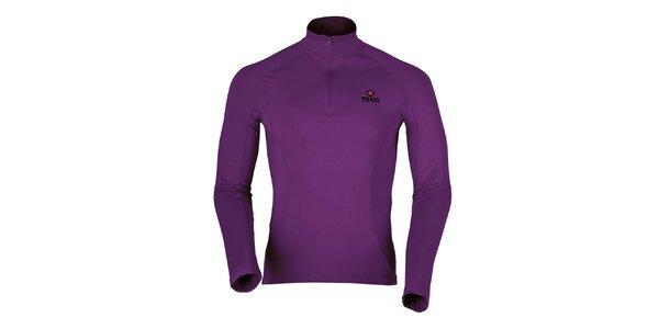 Pánské fialové termo tričko s dlouhým rukávem Izas